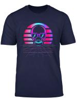 Synth Pop 80S 90S Aesthetic Skull Retro Vaporwave Design T Shirt