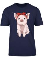 Pig Bandana Pig Lovers Farmers Farm Animal Lovers T Shirt