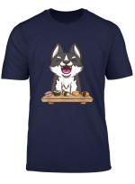 Sibirischer Husky Und Sushi Japanisches Essen Hund Geschenk T Shirt