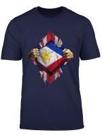 Philippines And Uk Flag T Shirt Filipino T Shirt