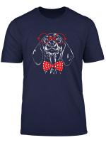 Susser Dachshund Dackel Brille Lustiger Hund Hunde T Shirt