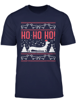 Ho Ho Dachshund Santa Ugly Christmas Sweater Dog Owner Gift T Shirt