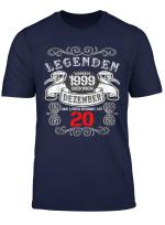 20 Geburtstag Deko Geschenk Jahrgang 1999 Geboren Dezember T Shirt