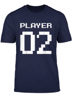 Player 2 Partnerlook Vater Sohn Videospiel Gaming Gamer T Shirt