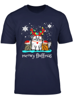 Meowy Fluffmas Lustiges Catmas Tee Susse Katze Weihnachten T Shirt
