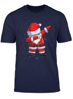 Dabbing Weihnachtsmann Weihnachten Christmas Santa Geschenk T Shirt