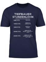 Herren Tiefbau Tiefbauer Baustelle Bauarbeiter Bauleiter Geschenk T Shirt