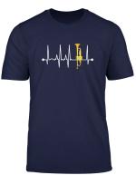 Trompete Herzschlag Ekg Lustig Retro Witz Trompeter T Shirt