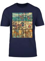 Rockstar Japanese Art Collection Ancient Samurai Collage T Shirt