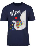 Autism Awareness Autism Elephant Mom Tshirt Cute Gifts