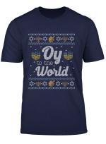 Funny Hanukkah Jumper Jewish Gift Oy To The World Long Sleeve T Shirt