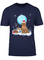 Cute Christmas Led Light Goldendoodle Dog Gifts T Shirt