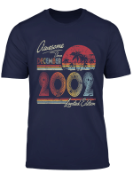 Awesome Since December 2002 17Th Birthday Gift 17 Years Old T Shirt