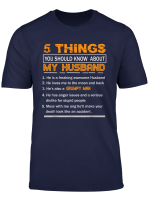 5 Things You Should Know About My Husband Tee Shirts