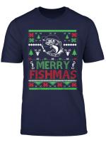Ugly Fishing Christmas Shirt Merry Fishmas Shirt