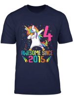 Youth 4 Years Old 4Th Birthday Unicorn Shirt Girl Daughter Gift Pa
