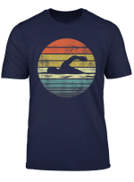 Swimmer Gifts Funny Retro Vintage Sunset Swim Coach Swimming T Shirt