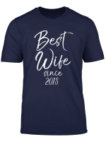 Anniversary Gift From Husband To Wife Best Wife Since 2018 T Shirt