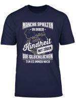 Manche Spielten In Der Kindheit Mit Zugen Zugfuhrer T Shirt