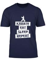 Karate Eat Sleep Repeat Team T Shirt