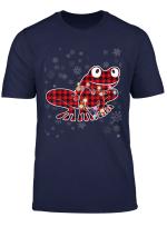 Frog Red Plaid Christmas Pajama Family Matching Group Gift T Shirt