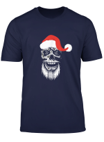 Totenkopf Skull Weihnachtsmutze Biker Rock Metal Geschenk T Shirt