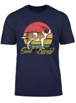 Vintage Retro Bernhardiner Hunde T Shirt Herren Damen
