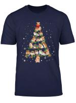 Cute Hamster Christmas Tree Gift Decor Xmas Tree T Shirt