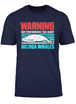 Beluga Whale Costume Retro Sea Love Theme Party Gift T Shirt