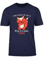 Youth I M Going To Be A Big Cousin 2020 T Shirt Girls Dabbing Fox