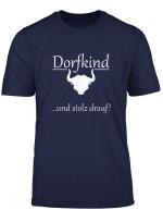 Dorfkind Und Stolz Drauf Shirt Mit Kuh
