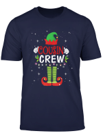 Cousin Crew Elf Tshirt Gift Family Matching Christmas Ugly T Shirt