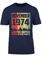 45Th Birthday Gifts Awesome November 1974 45 Years Old T Shirt
