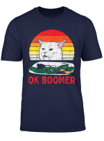 Confused Cat Dinner Table Ok Boomer Funny Meme Lover Gift T Shirt