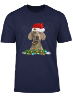 Weimaraner Christmas Dog Light Funny Xmas Gift For Men Women T Shirt
