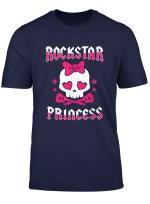 Rockstar Prinzessin Rock Star Skull Punk Gitarre Bold T Shirt