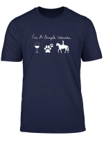 Womens I M A Simple Woman Wine Dogs Horse T Shirt For Women