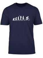 Radfahrer Evolution Biker Geschenkidee T Shirt