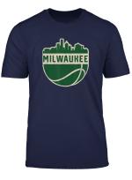 Vintage Milwaukee Wisconsin Cityscape Basketball T Shirt