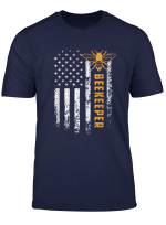 American Beekeeper Flag T Shirt Save Bees Gift