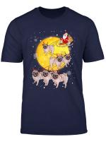 Pug Reindeer Christmas Funny Cute Pug Lover Gift T Shirt