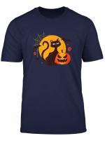 Halloween Black Cat Spooky Party Costume Tops Men Women Kids T Shirt