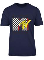 Japanese Kanji Mtv Logo With Checkerboard Long Sleeve T Shirt