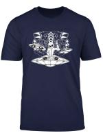 Abstraktes Tripping Alien Dj Liveset Verfolgungswahn T Shirt