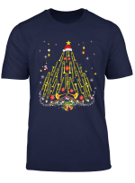 Funny Christmas Trombone Player Gifts Xmas Tree T Shirt
