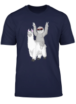 Faultier Reitet Lama Alpaka Geschenk Fur Madchen Und Jungen T Shirt