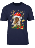Funny Horse Christmas Reindeer Lights Horse Xmas Lights Gift T Shirt