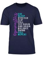 Top Girls Eat Sleep Gymnastics Repeat Gift T Shirt