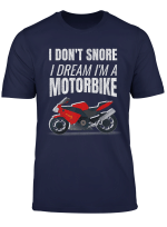 Motorbike Enthusiast Snorer Distressed Motorcycle Shirt