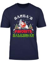 Santa S Favorite Salesman Funny Christmas Vacation Gift T Shirt